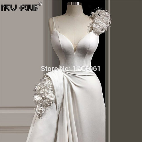 Floor Length Beading Custom Made  Party Gown