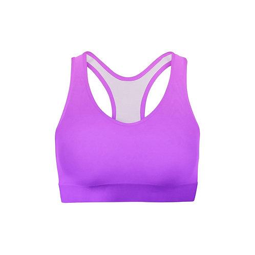 Pink Purple Ombre Sports Bra