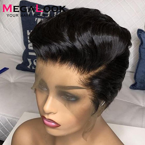 Pixie Cut Wig Lace Front Brazilian Straight Lace Front180 Glueless Short Wigs