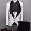 Thumbnail: Mens Fashion Big Shawl Lapel 3 Pieces Set Pink Red Blue White Black