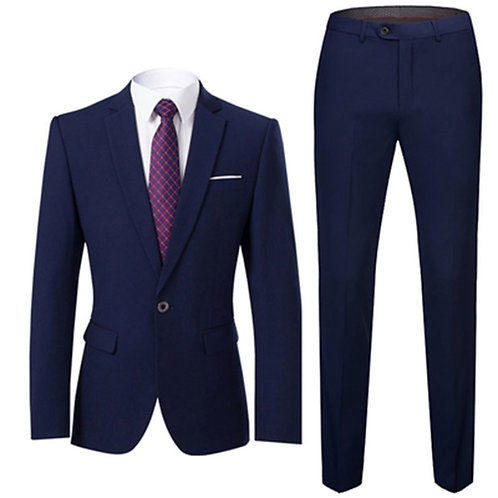 Men Suits Slim Fit Business Uniform Office Suit