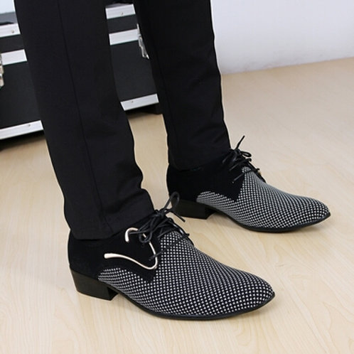 Dress Shoes Office Men's Pointed Leather Shoes Male Business Shoes Men Flats