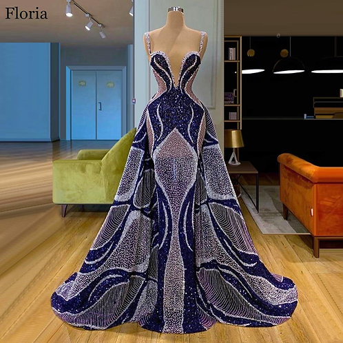 Mermaid Caftan Couture Evening Dress- Prom Gowns