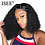 Thumbnail: Curly Bob Lace Front Kinky Curly Lace Front Wig 360 Lace Frontal Wig Brazilian