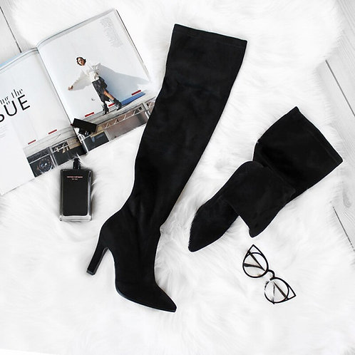Over the Knee High Boots Slip on Winter Shoes for women