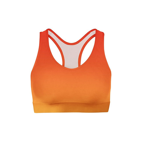 Red Yellow Ombre Sports Bra