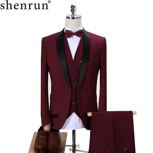 \Men Tuxedo Slim Fit Fashion Suit Wedding Shawl Lapel 3 Pieces