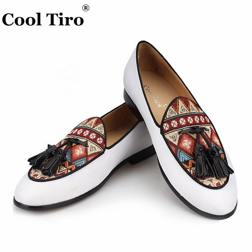Genuine Leather Dress Shoes Ethnic Style