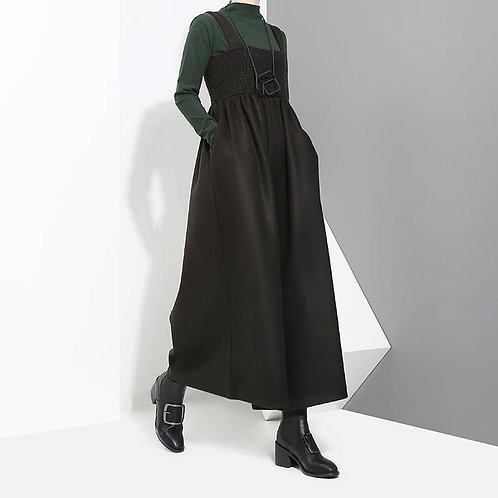 Jucee Wide Leg Overalls - Black