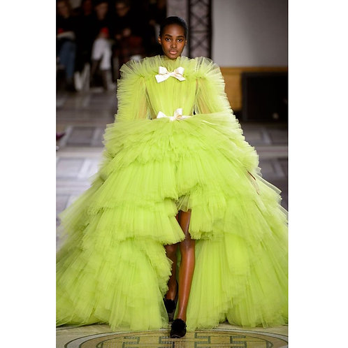 Robe De Soiree Puffy Tulle Ball Gown