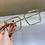 Thumbnail: Fashion Transparent Square Sunglasses Metal Frame