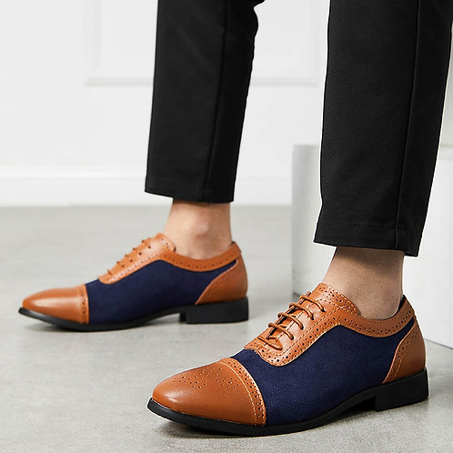 New Fashion Classic Leather Men'S Suits Shoes Fashion Slip on Oxfords