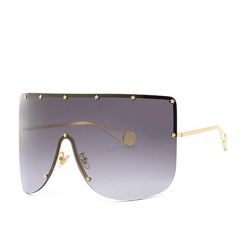 Elaiza Oversized Sunglasses - Gray Gradient