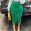 Thumbnail: Green Fringe Bodycon Pencil Skirts