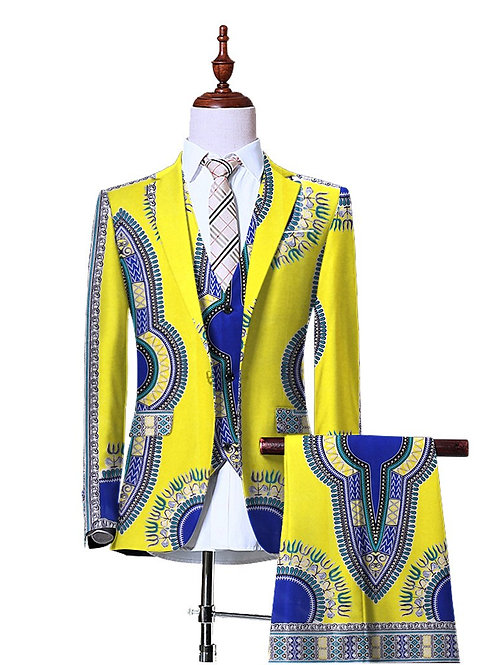 (Jacket+Vest+Pants)Blazers for Men 3 Piece Slim Fit
