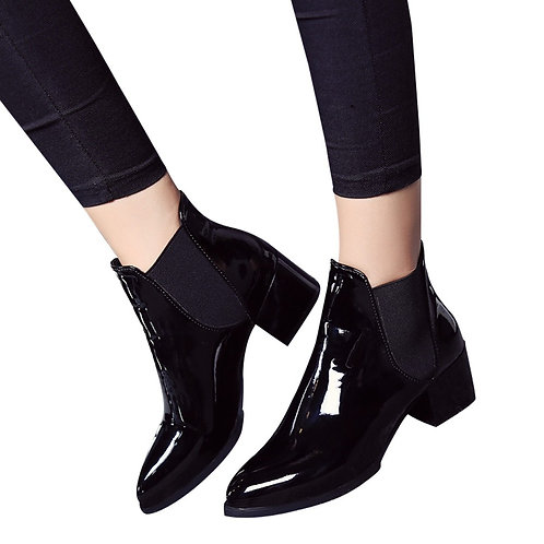 Black elastic Women Boots