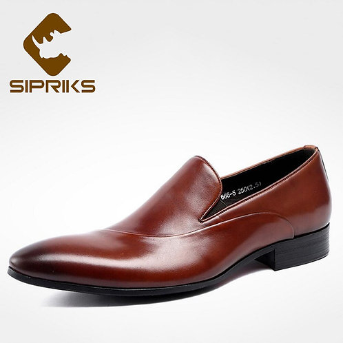 New Style Genuine Leather Casual Loafers Men's Footwear Pointed