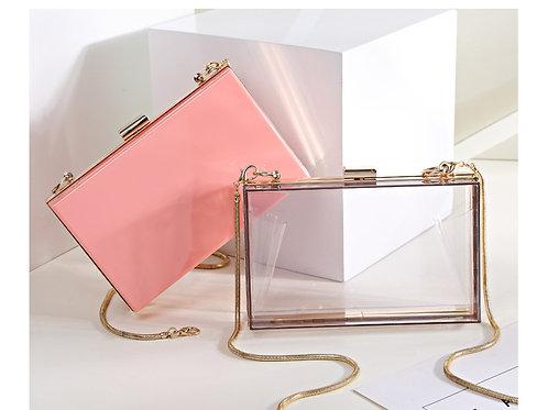 New Acrylic Transparent Women Clutch Bag