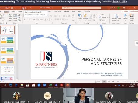 Tax Specialist Training Diary: Personal Tax Relief & Strategies