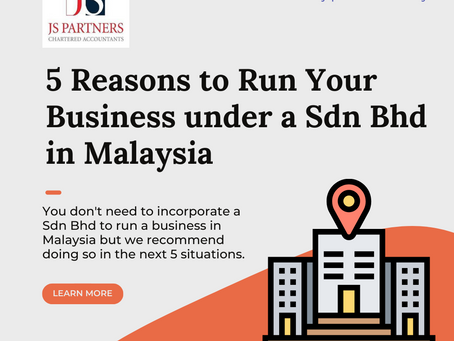 5 Reasons to Run Your Business under a Sdn Bhd in Malaysia