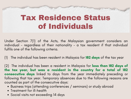Are You a Tax Resident in Malaysia? Do You Need to Pay Tax?