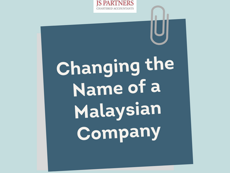 Changing the Name of a Malaysian Company