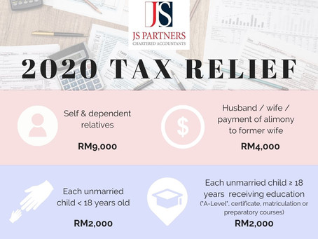 [Infographic] Everything You Can Claim As Income Tax Relief For The Year 2020