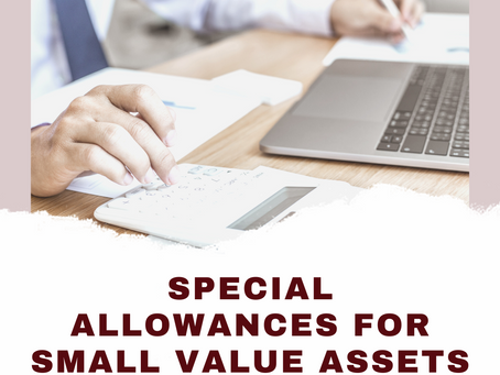 Here's What You Need to Know About Special Allowances for Small Value Assets