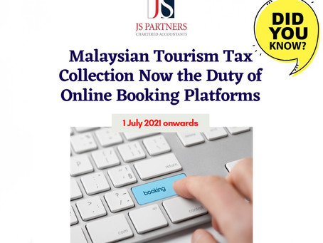 Malaysian Tourism Tax Collection Now the Duty of Online Booking Platforms