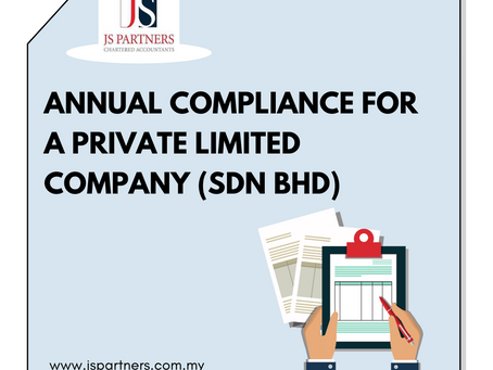Annual Compliance for a Private Limited Company (Sdn Bhd)