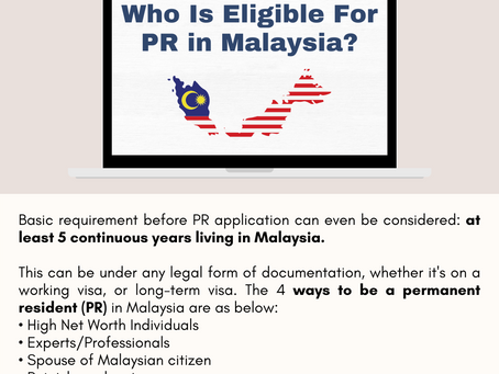 How to Be a Permanent Resident in Malaysia