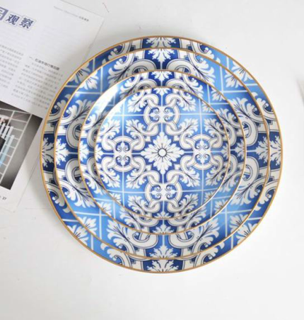 Imperial Blue and Gold Dinner Set