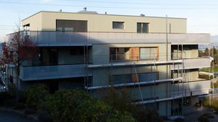 Fassade Renovationsphase
