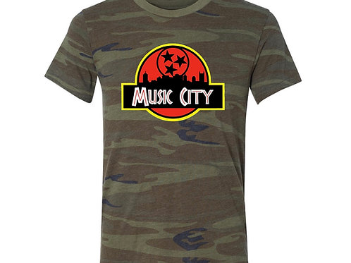 PRE SALE:  Music City Jurassic Park Tee
