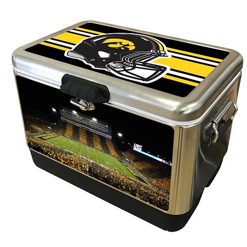 STAINLESS STEEL - Iowa Hawkeye Stadium Stripe Cooler