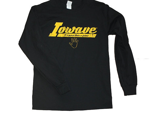 Iowave™ 'It's More Than a Game' Long Sleeve T-Shirt - Black