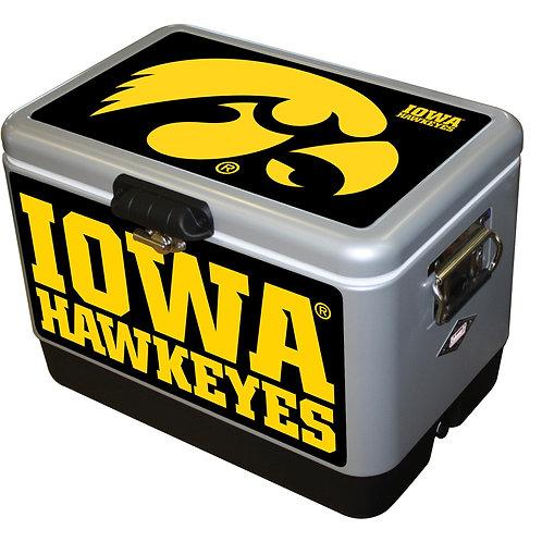STEEL BELTED- Iowa Hawkeye Cooler