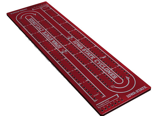 Cribbage Board - XL - Anodized Aluminum - Iowa State Cyclones