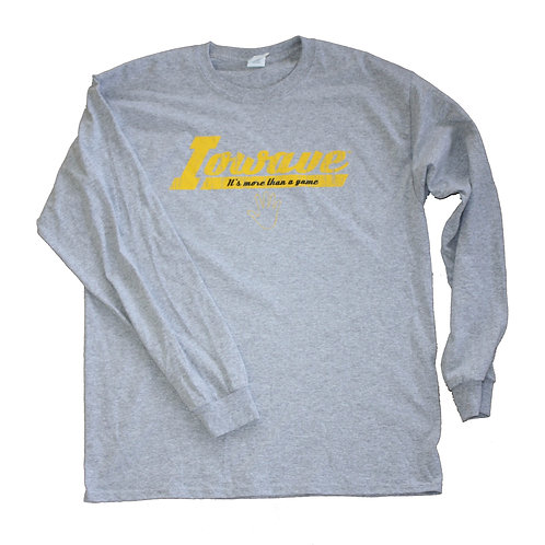 Iowave™ 'It's More Than a Game' Long Sleeve T-Shirt - Grey