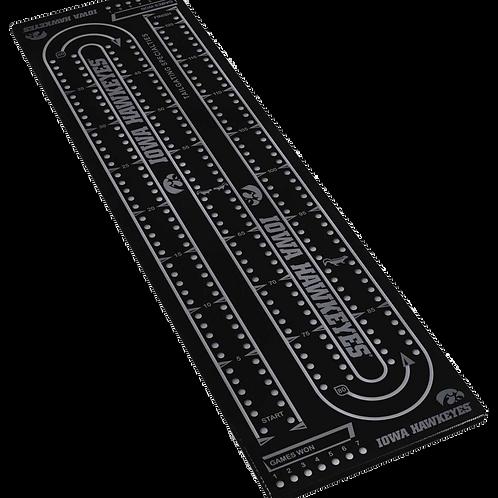 Cribbage Board - XL - Anodized Aluminum - Iowa Hawkeyes