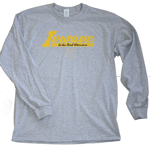 Iowave™ 'To The Real Warriors' Long Sleeve T-Shirt - Grey