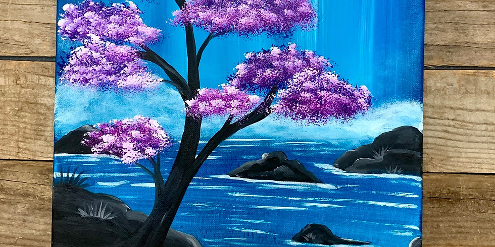 Lavender Falls Canvas Painting Class $35