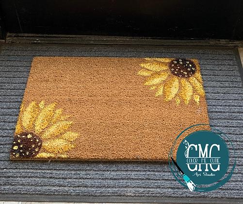 Sunflower Front door Mat