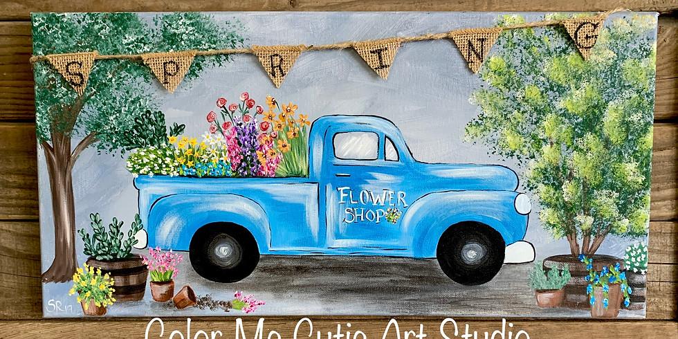 Spring Flower Shop Truck painting class