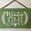 Thumbnail: Winter time small wooden decor sign