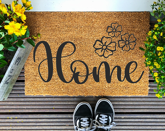Floral Home---Year round Door Mat