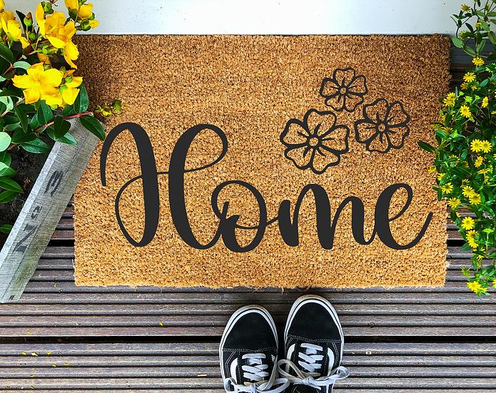 Floral Home---Year round Door Mat