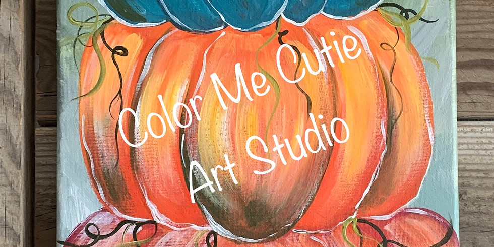 Stack your pumpkins Paint Party (ONLINE ANYTIME)