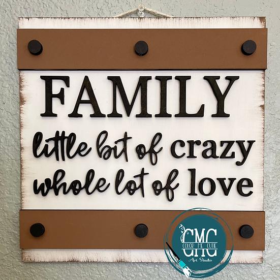 Farmhouse Family wood sign