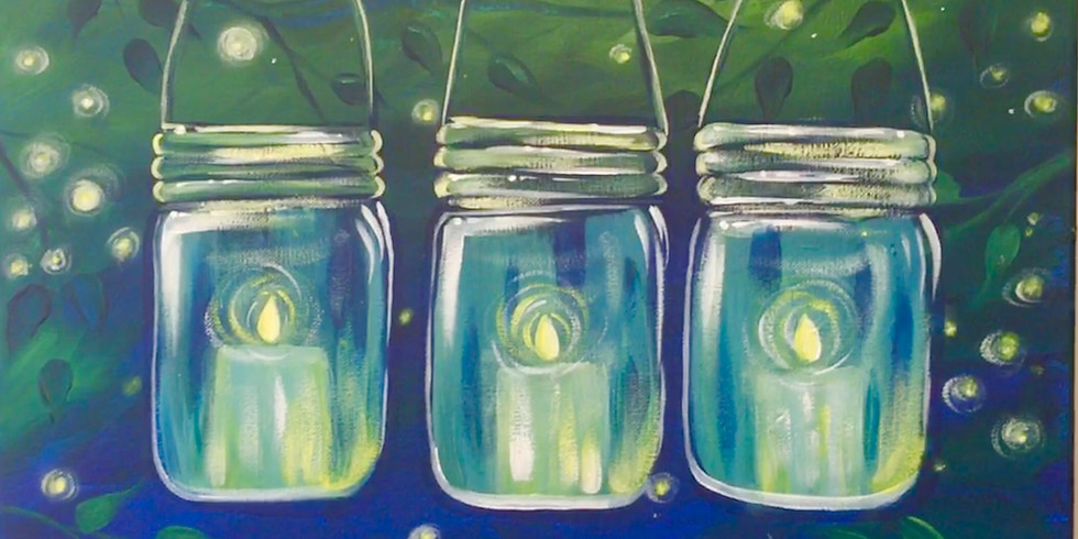 """""""Lighted Leaves"""" Canvas Painting Class $35"""